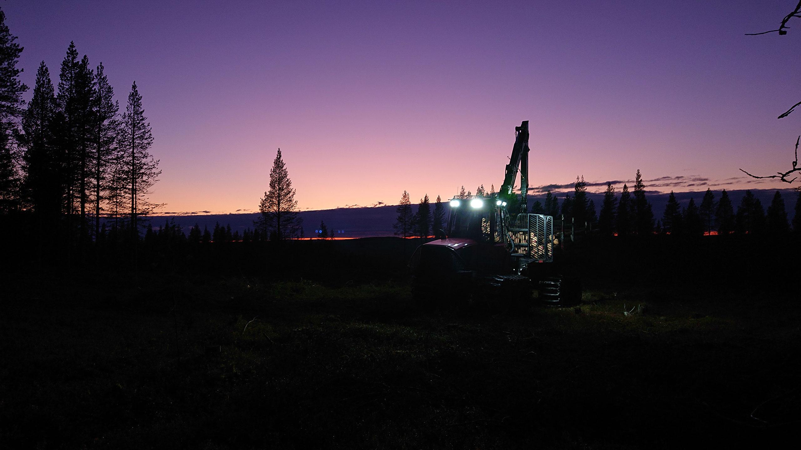 Komatsu Forest -valokuvauskilpailu lokakuu sija 1 Heikki Juusola